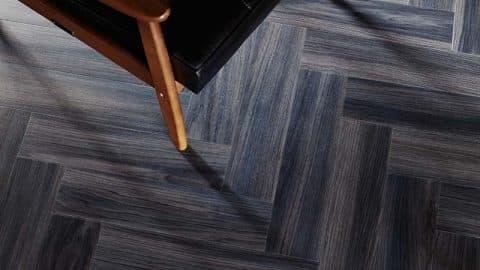 Dark Chevron Flooring