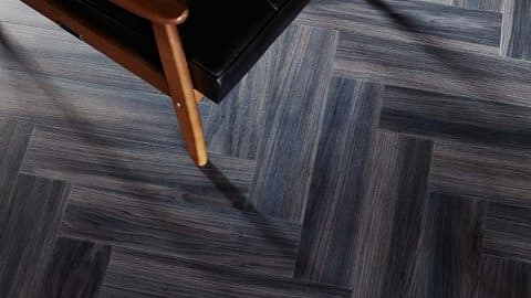 Dark Chevron Flooring