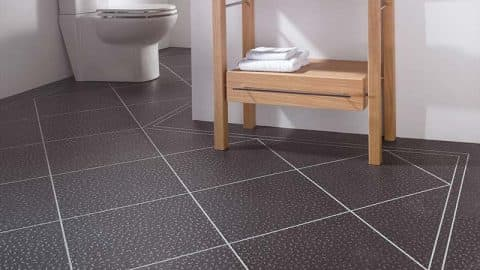 Karndean Black and White Bathroom Flooring