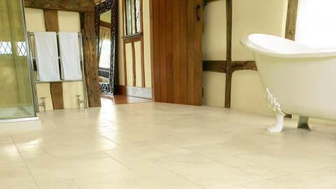 Karndean White Bathroom Flooring